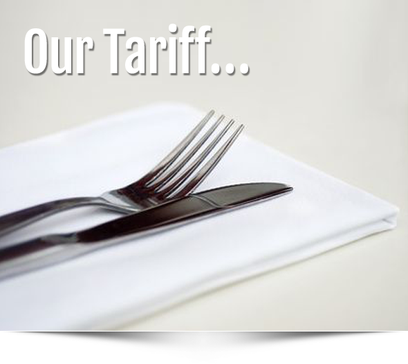 our tariffs